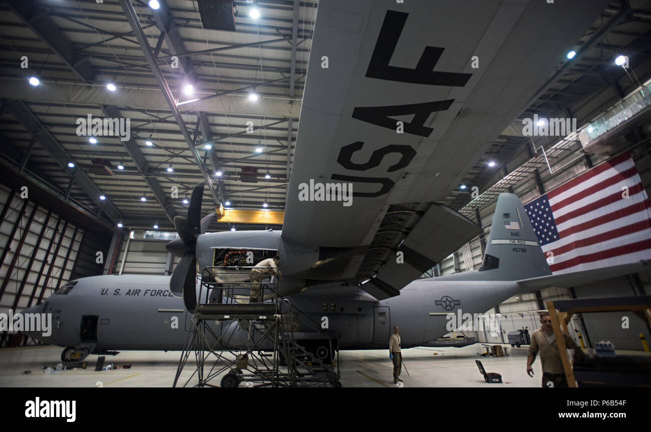Members of the 455th Expeditionary Aircraft Maintenance Squadron ...
