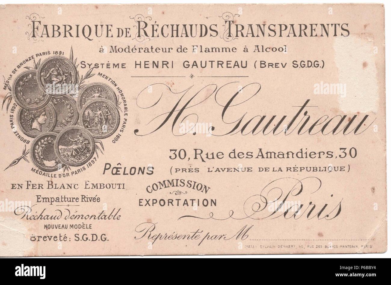 1898 Carte De Visite HG 2Mo