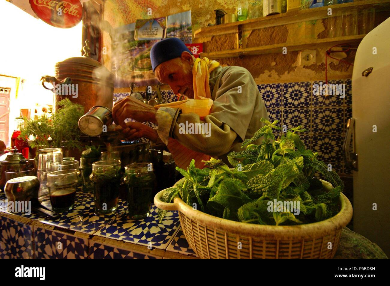 Teteria tradicional. Fez. Marruecos. Magreb. Africa. Stock Photo