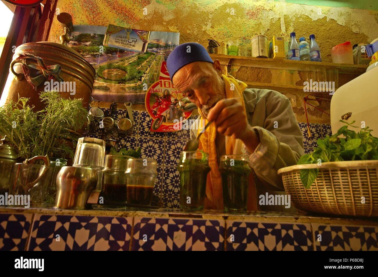 Teteria tradicional. Fez. Marruecos. Magreb. Africa. Stock Photo