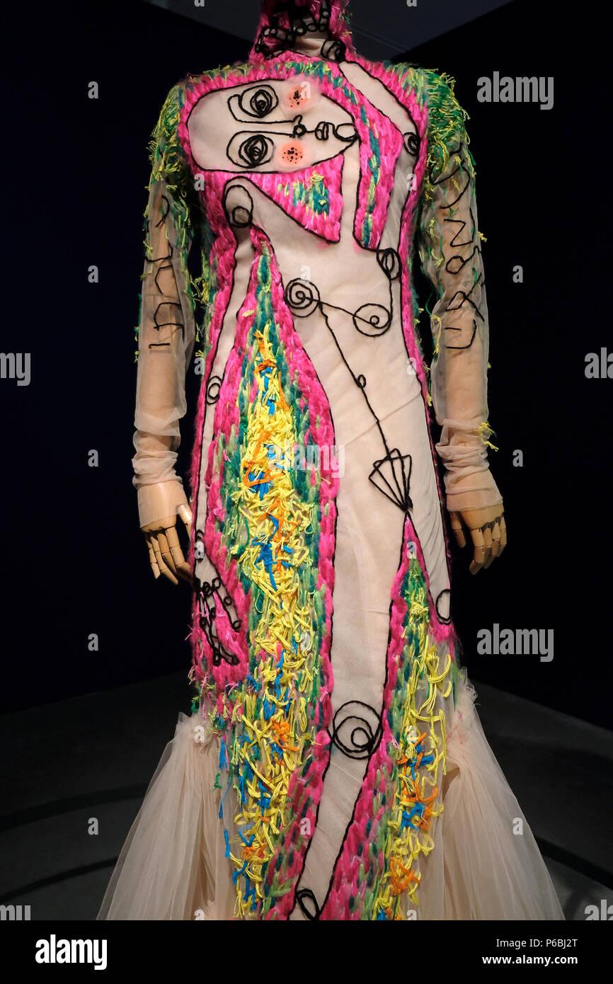 Dress By Israeli Fashion Designer Shahar Avnet Born 1988 Displayed At The New Exhibition Entitled Fashion