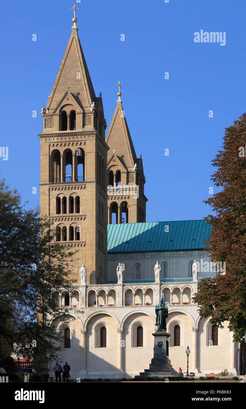 Hungary, Pecs, St Peter Basilica, - Stock Image