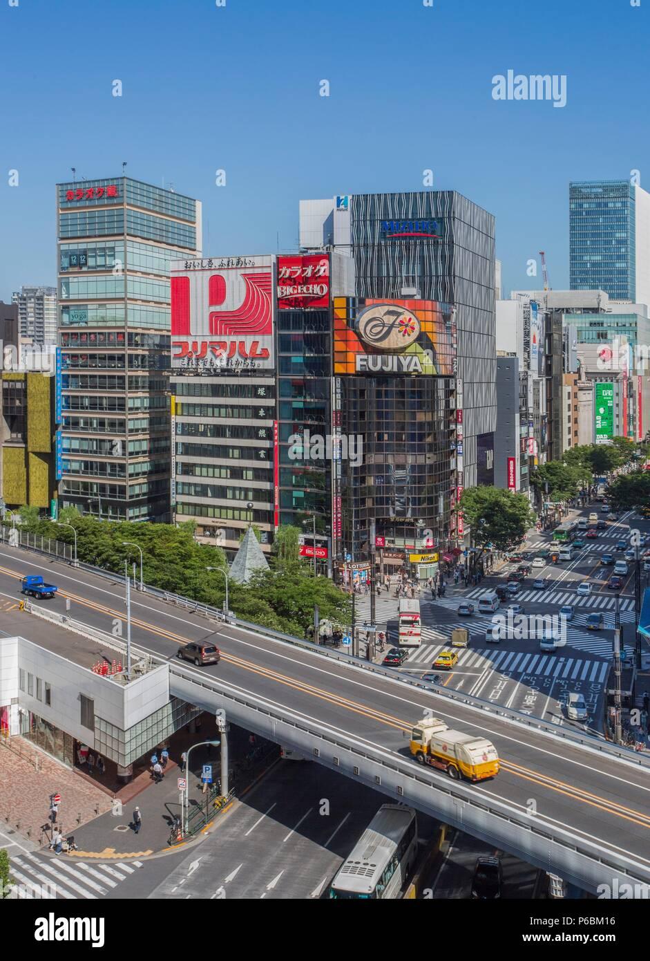 Japan, Tokyo City, Ginza Area, Harumi Avenue Stock Photo