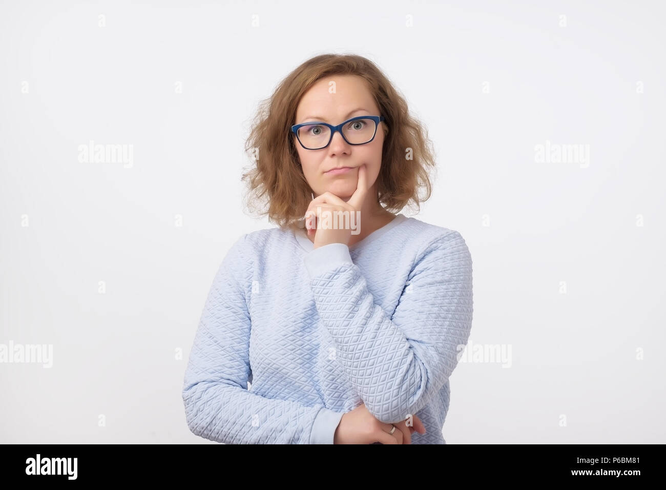 European looking woman