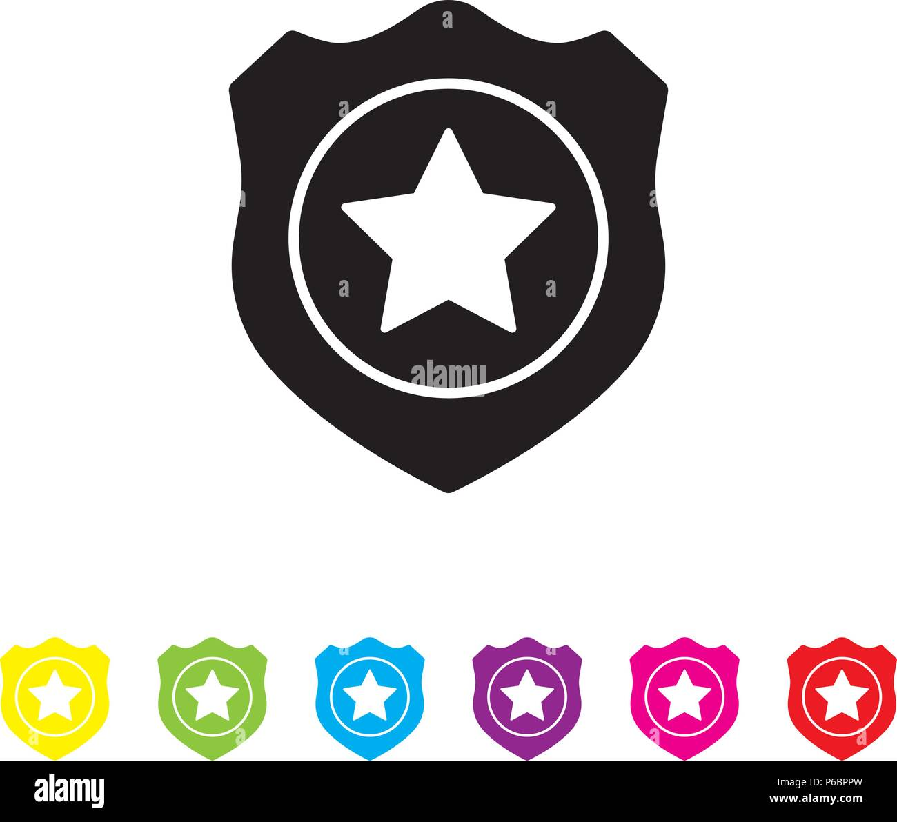Police Badge Stock Vector Images Alamy