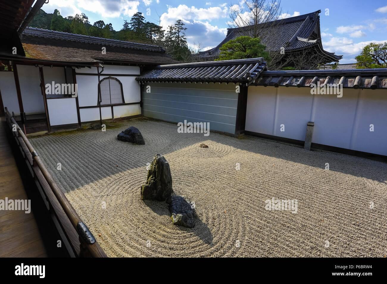 Japan, Kyoto City, Nanzen-Ji Temple Stock Photo