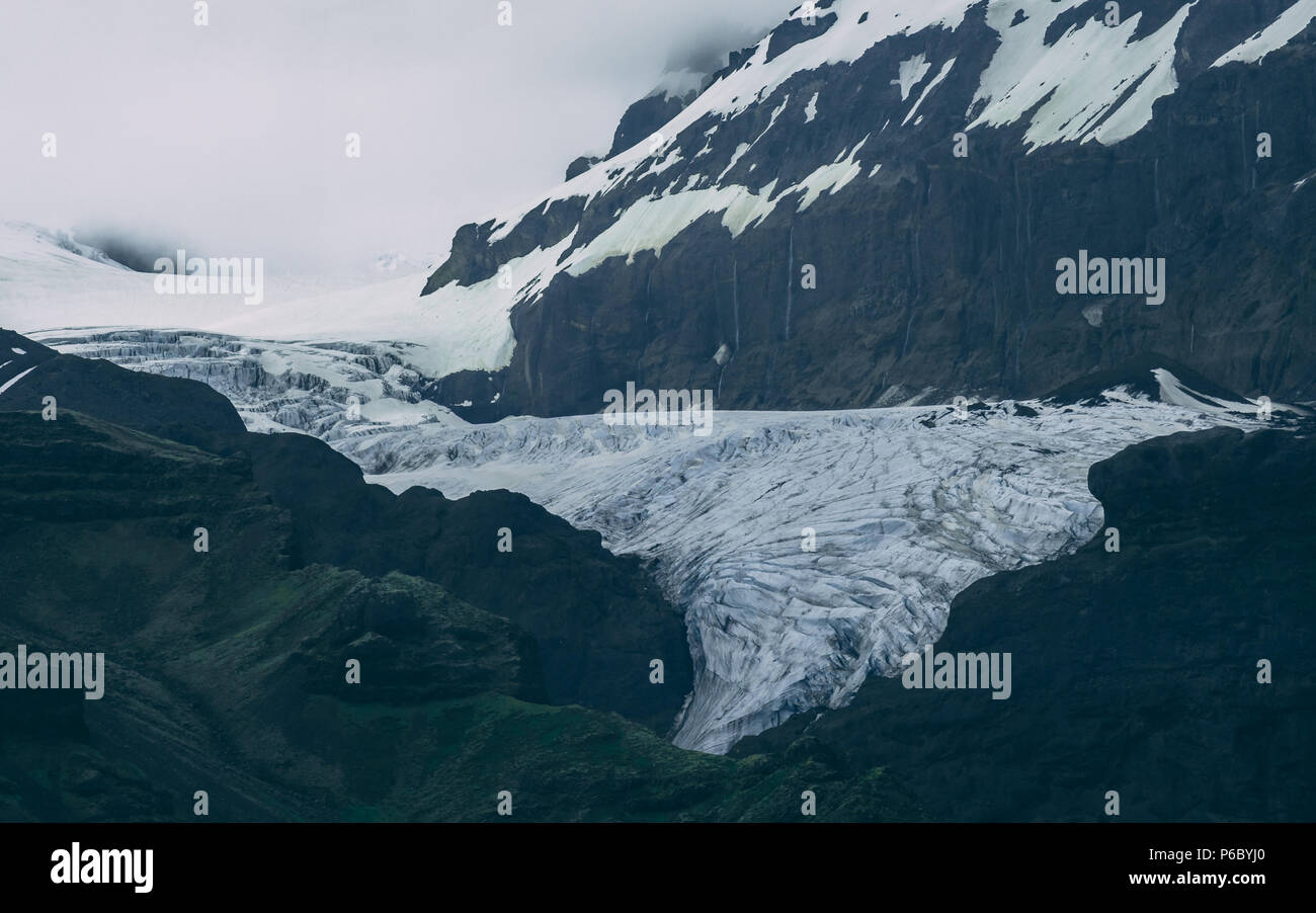 glacier arm in iceland closeu up - Stock Image