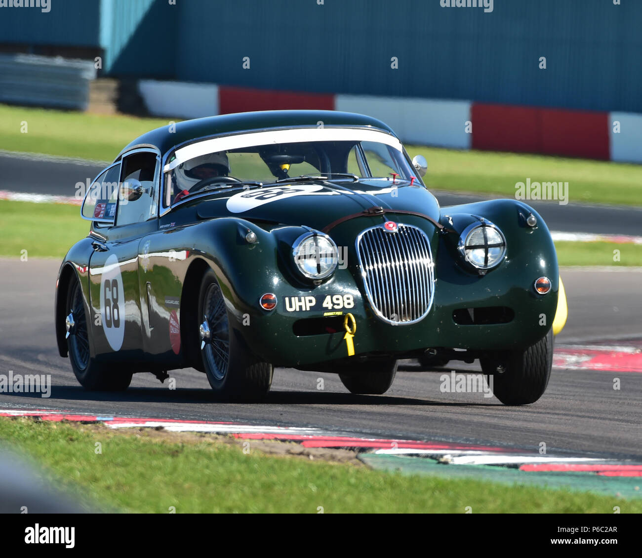 Marc Gordon, Jaguar XK150, Stirling Moss Trophy, pre-61 sports cars, Donington Historic Festival, May 2018, motor racing, motor sport, motorsport, Nos Stock Photo