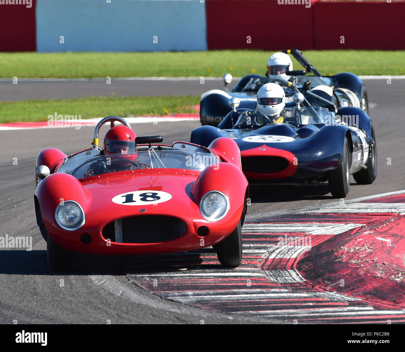 Anthony Ditheridge, Barry Cannell, Cooper Monaco, Stirling Moss Trophy, pre-61 sports cars, Donington Historic Festival, May 2018, motor racing, motor Stock Photo