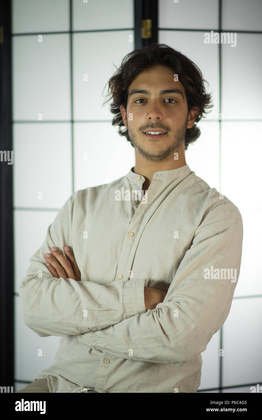 Close Up of Young Man - Stock Image