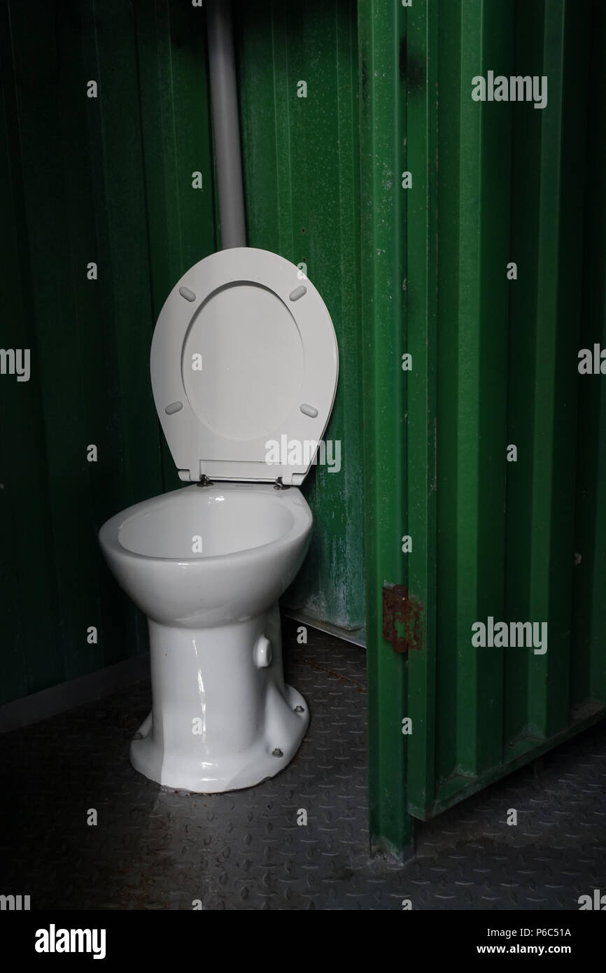 Berlin, Germany - public toilet - Stock Image