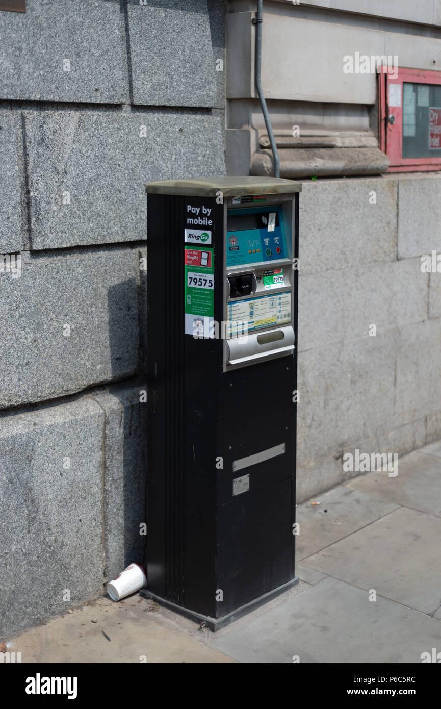 City of London Parking Machine Stock Photo
