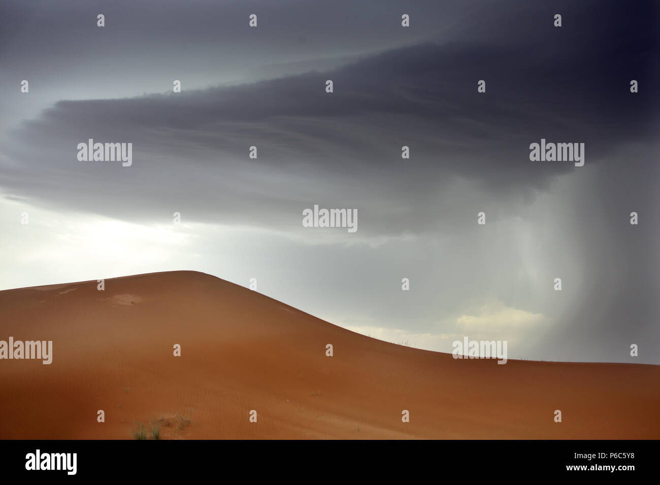 Dubai, United Arab Emirates, rain in the desert Stock Photo