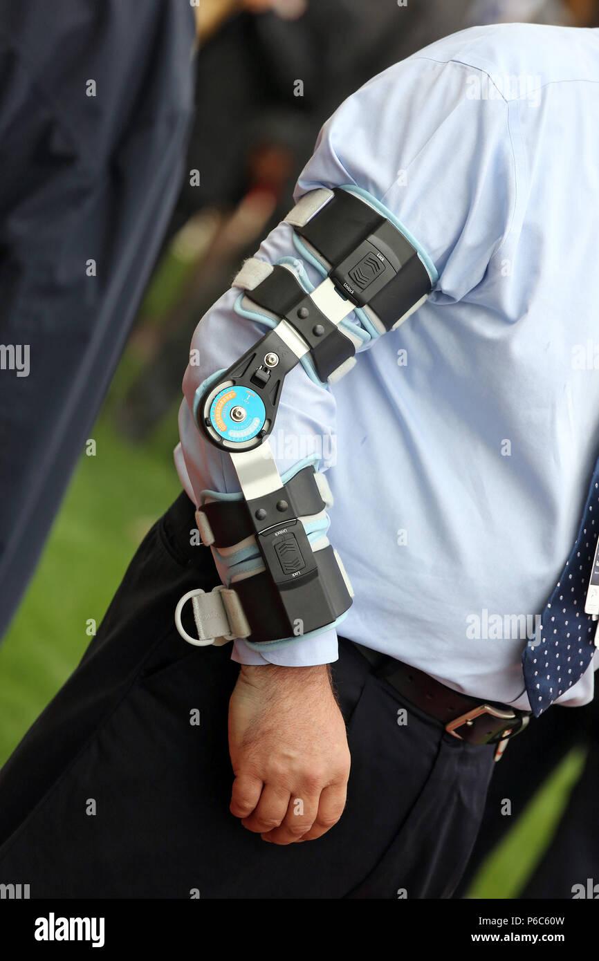 Dubai, elbow orthosis - Stock Image