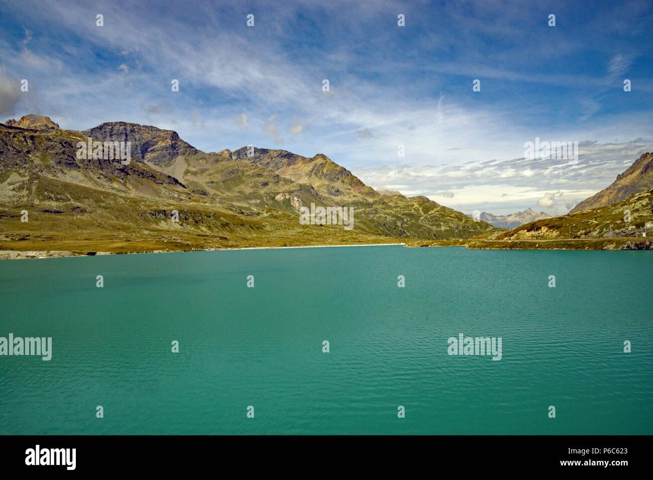 Glacier green lake in Switzerland - Stock Image