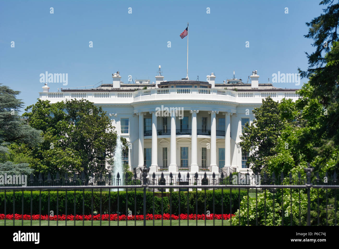 The White House Located Near The National Mall Washington Dc