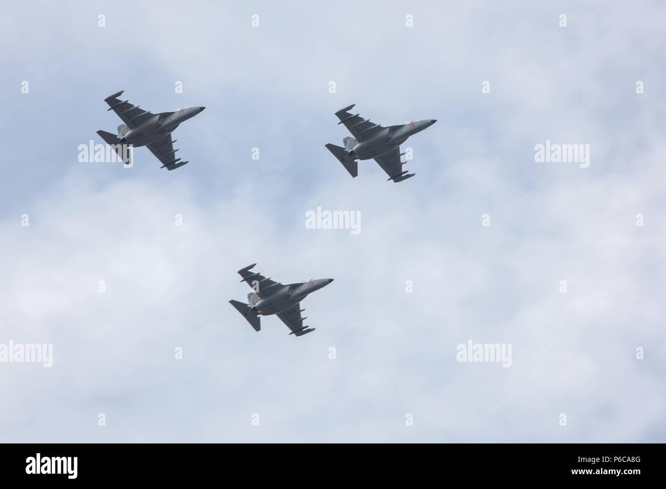 airplane, military aircraft Stock Photo