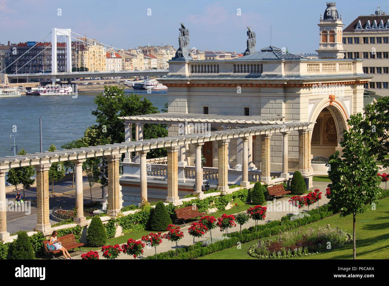 Hungary, Budapest, V‡rkert, Neo-renaissance garden, - Stock Image