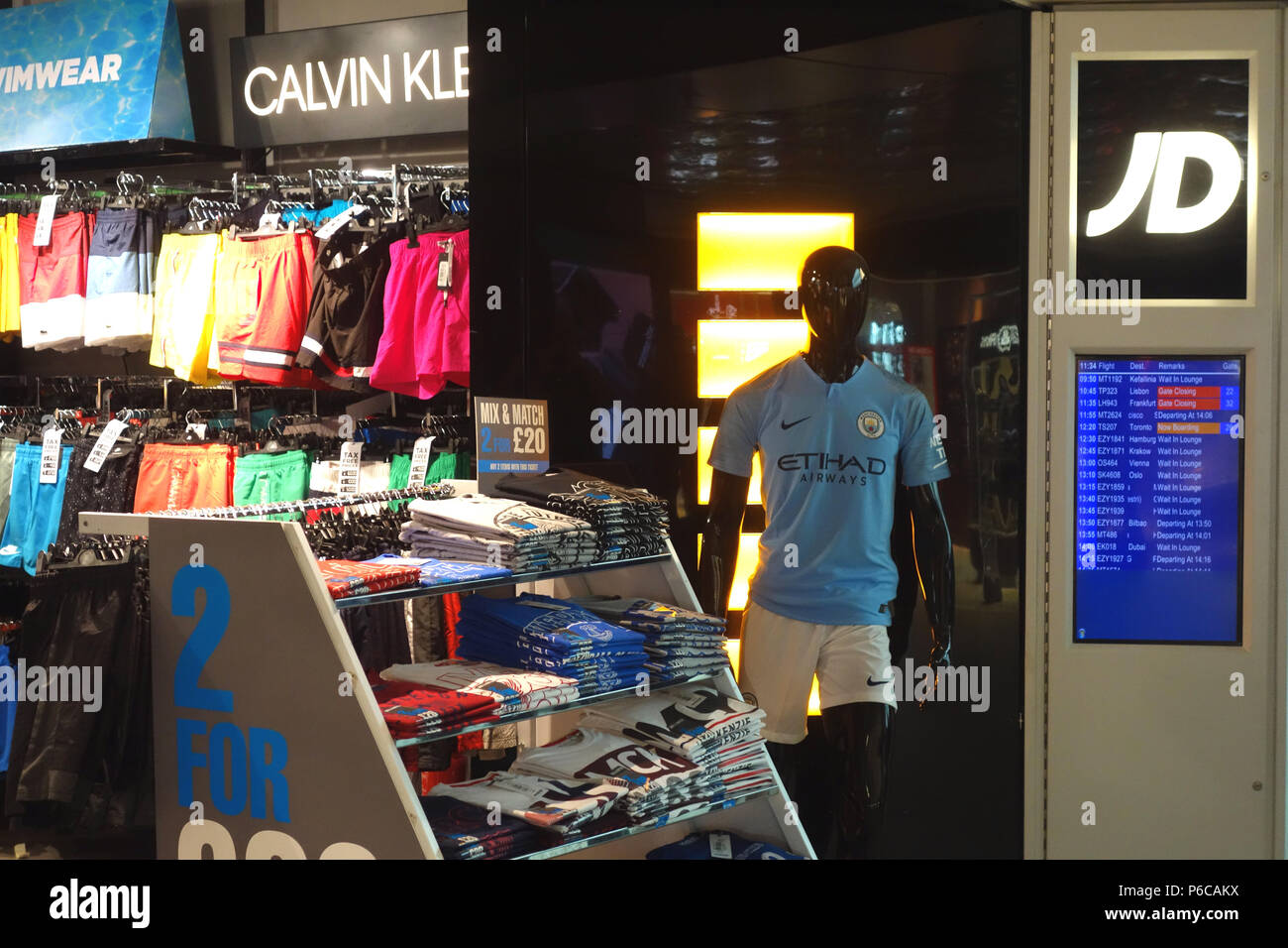 JD Sports Duty Free Shop, Manchester Airport Departure