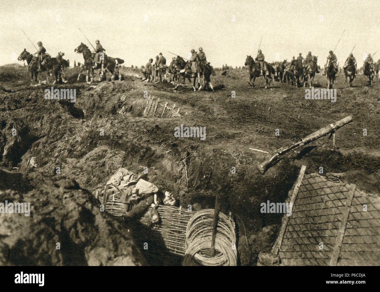 world war i, knight, division cavallry, ww1, wwi, world war one - Stock Image