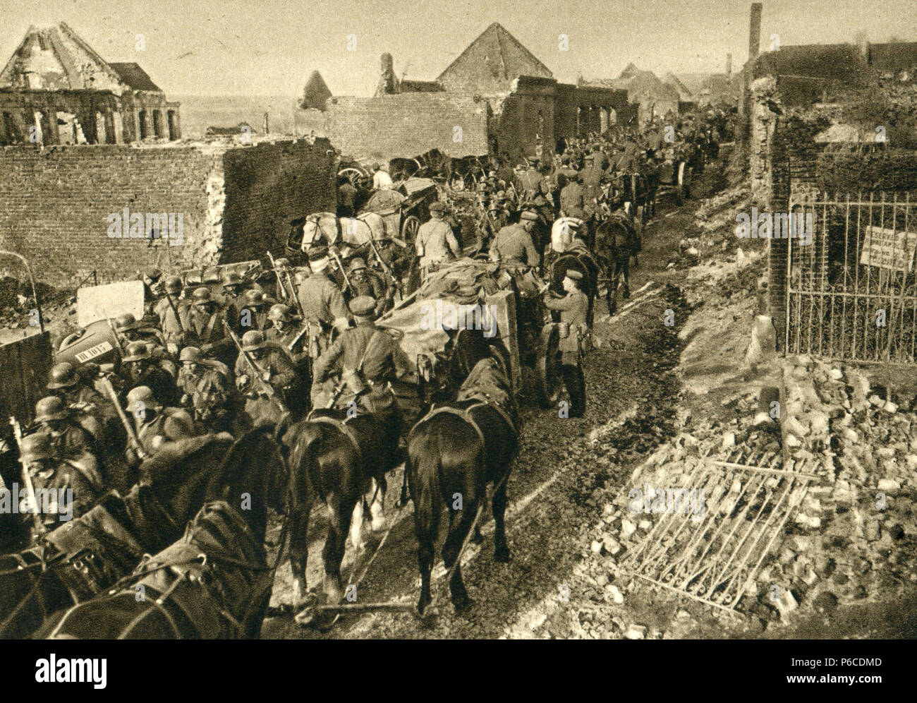 world war i, cavalry, vormarsch, ww1, wwi, world war one - Stock Image
