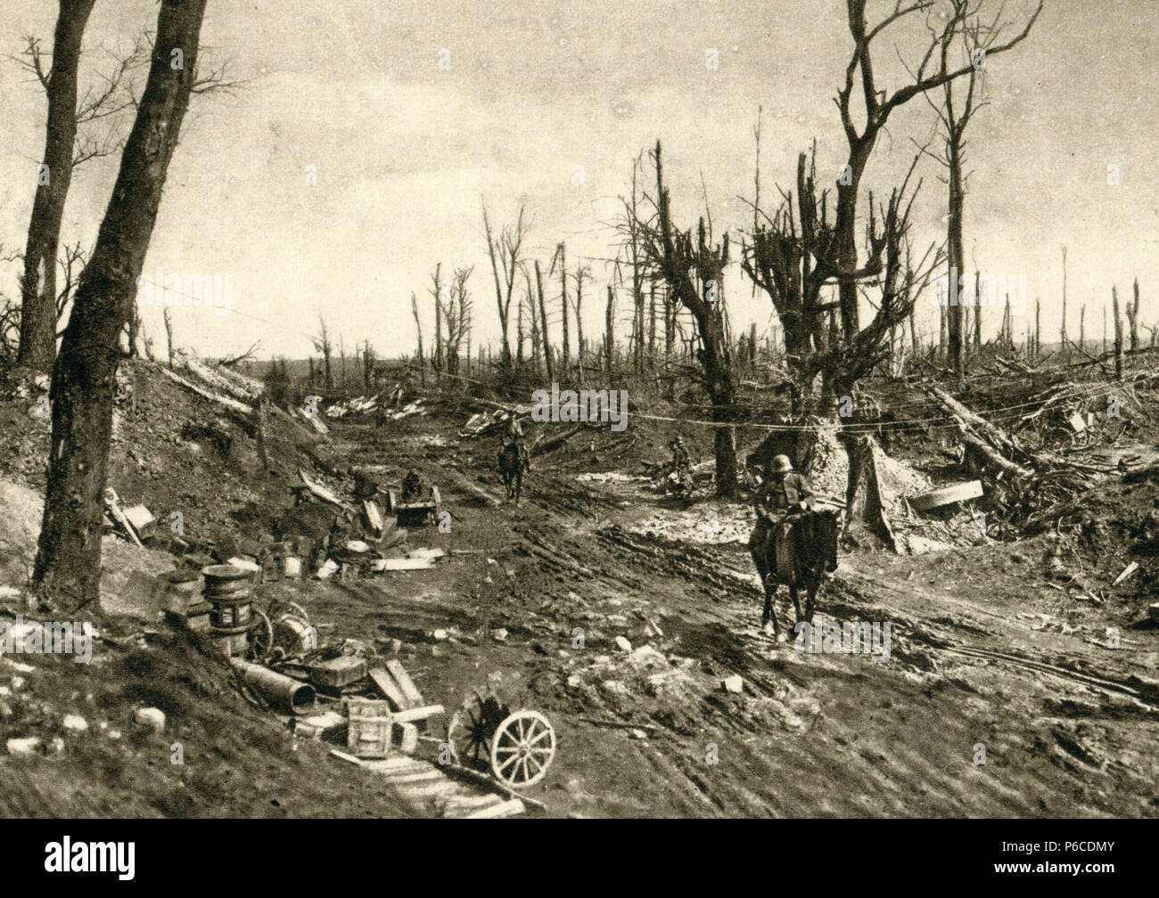 world war i, arras, battle terrain, ww1, wwi, world war one - Stock Image