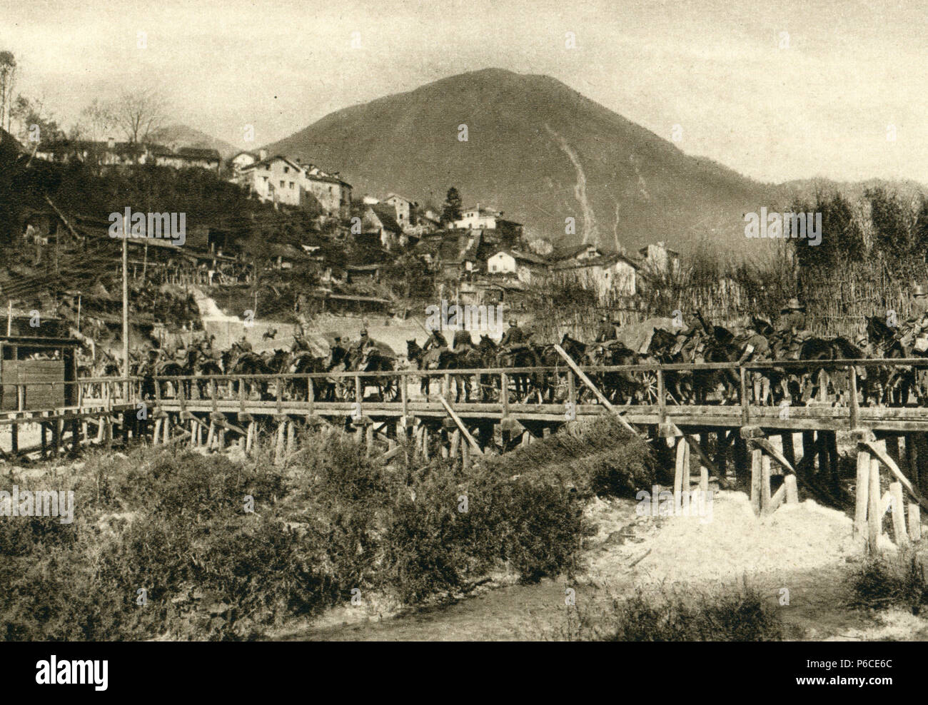 cavalry, German soldiers, Battle of the Isonzo, ww1, wwi, world war one - Stock Image