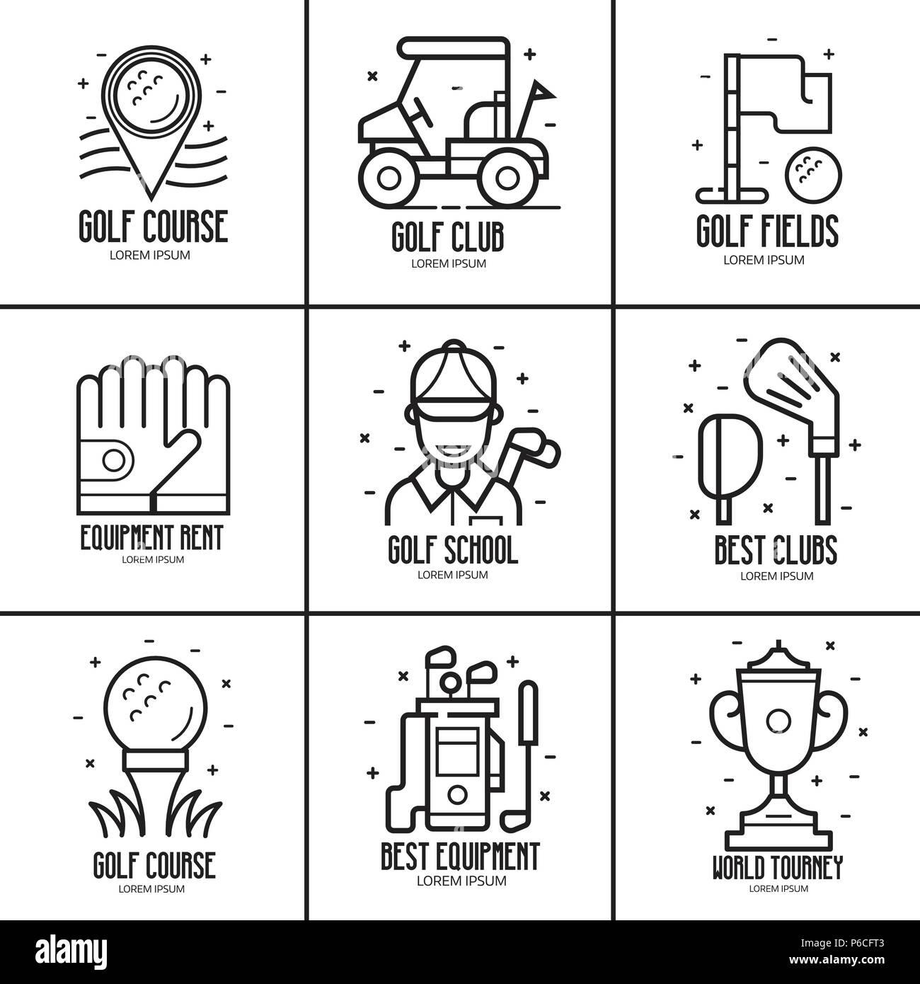 Golf Logotypes and Emblems - Stock Image