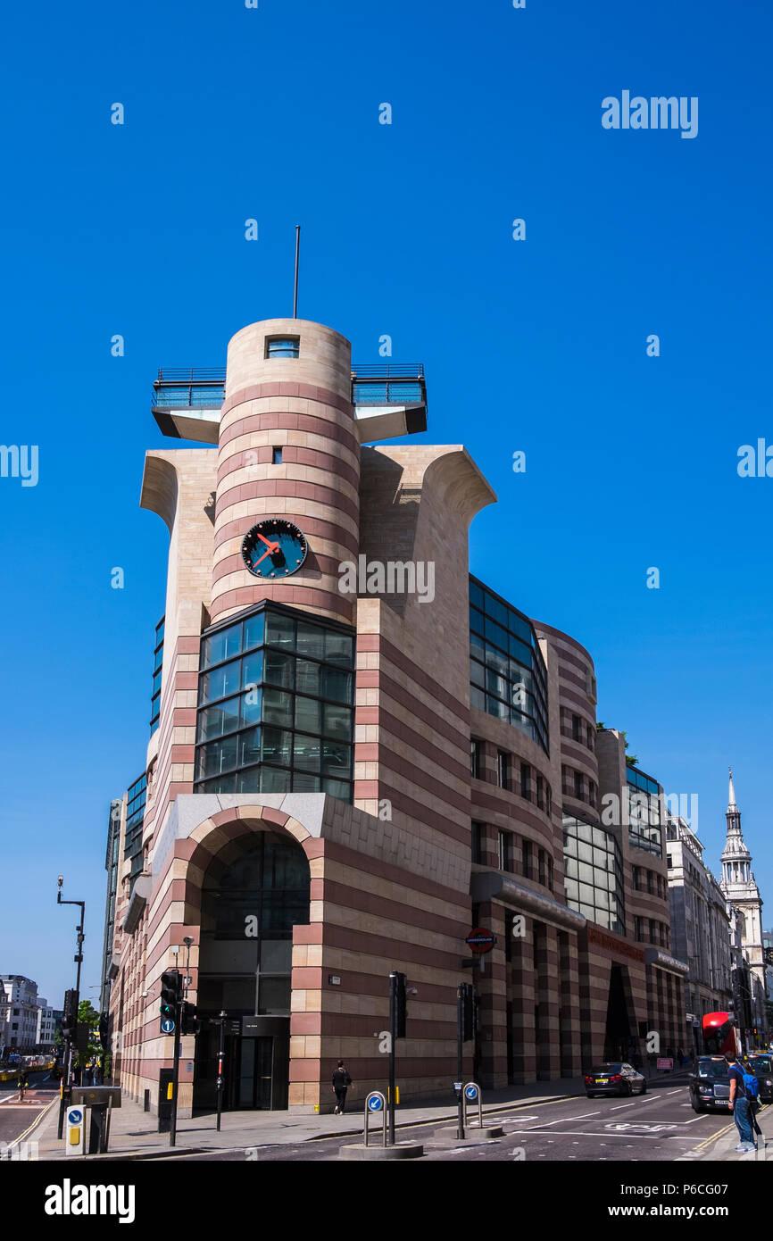 No. 1 Poultry building, London, England, U.K. - Stock Image