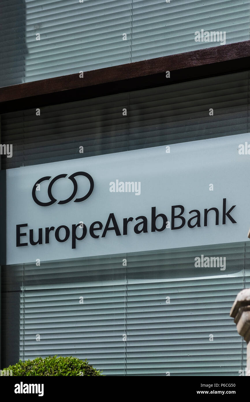 Europe Arab Bank, 13-15 Moorgate, London, England, U.K. - Stock Image