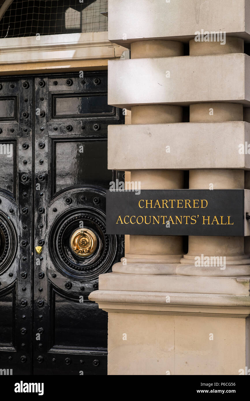Chartered Accountants Hall, One Moorgate Place, London, England, U.K. - Stock Image