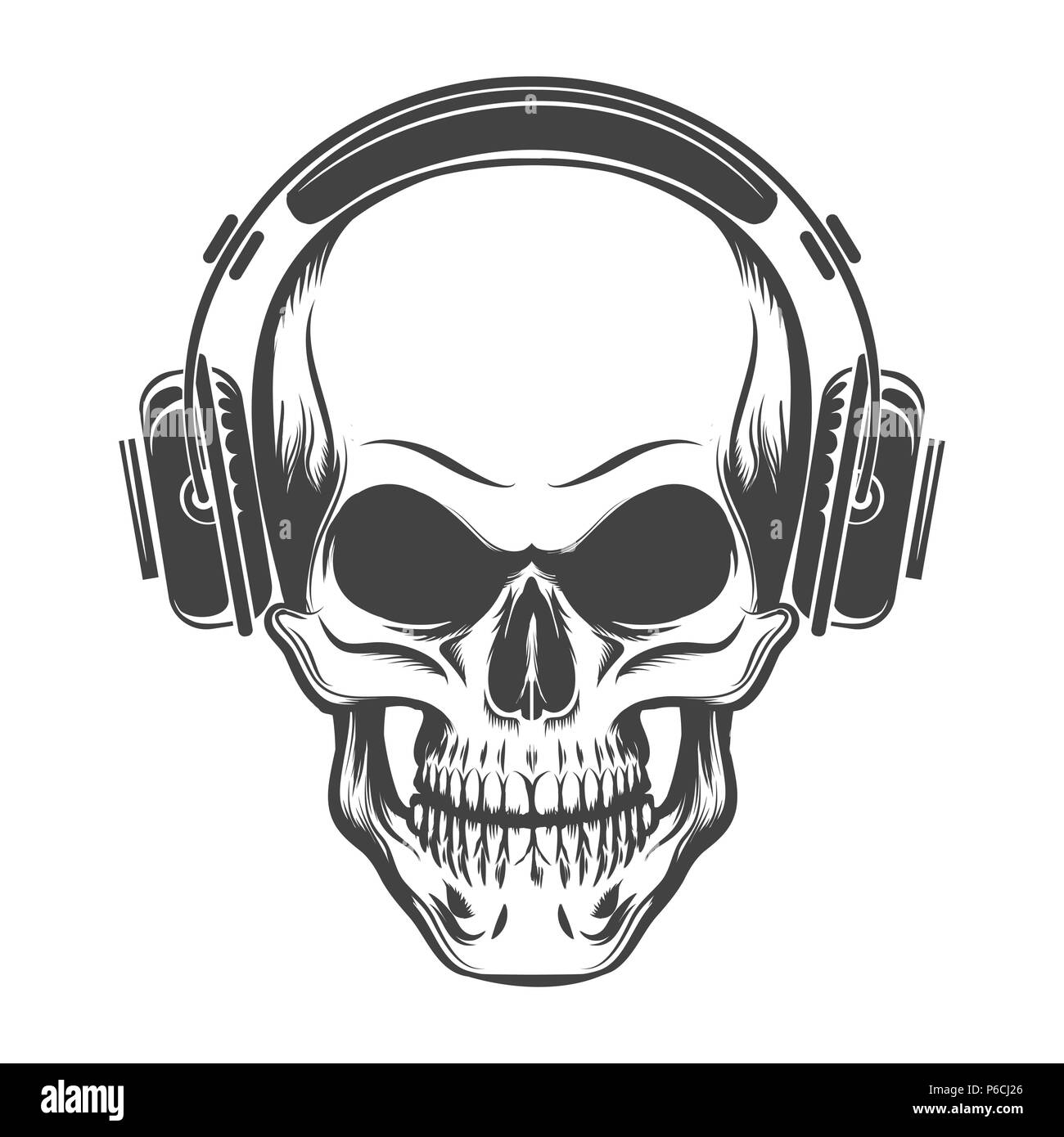 Skeleton Headphones High Resolution Stock Photography And Images Alamy