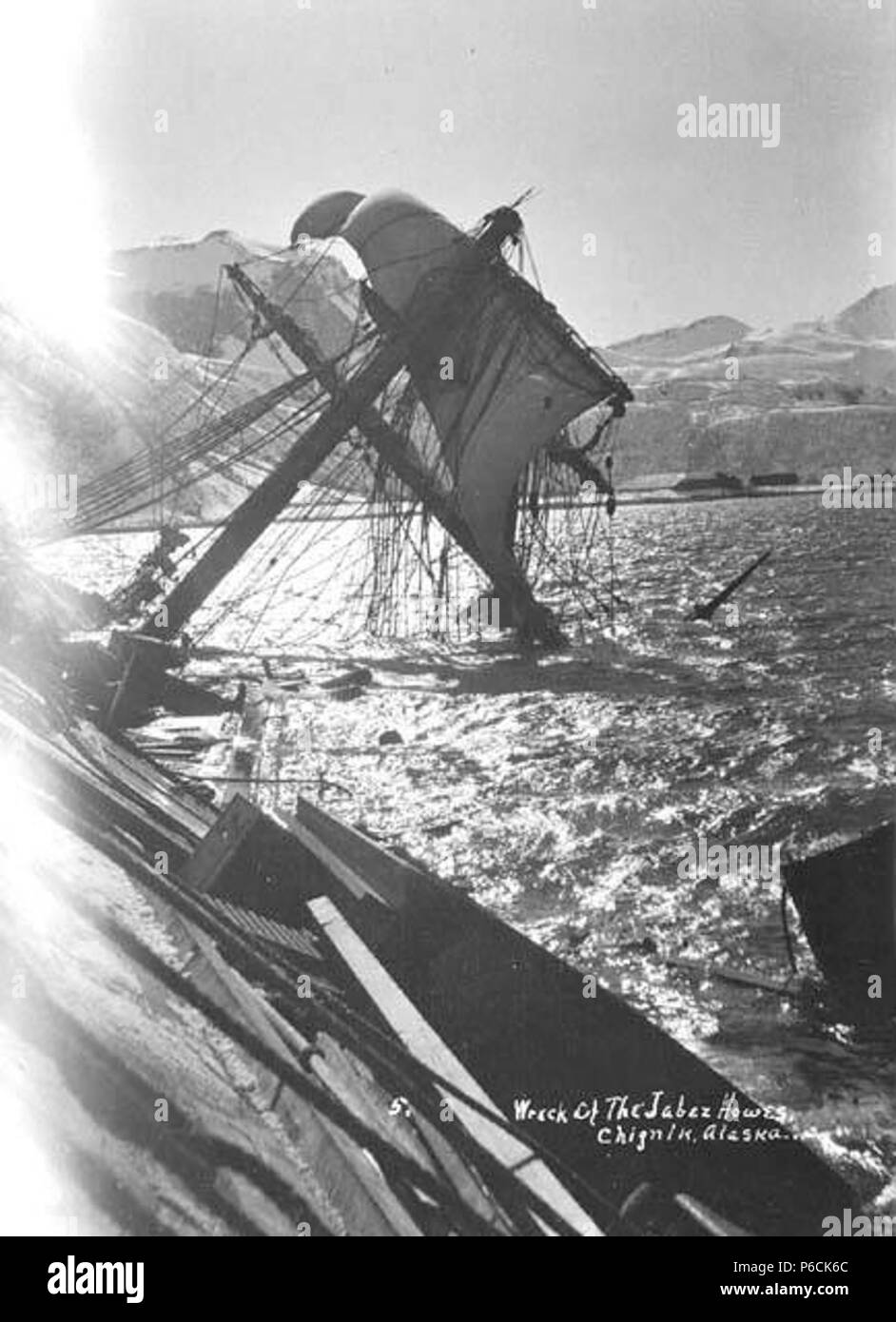 English: Wreck of the salmon cannery ship JABEZ HOWES