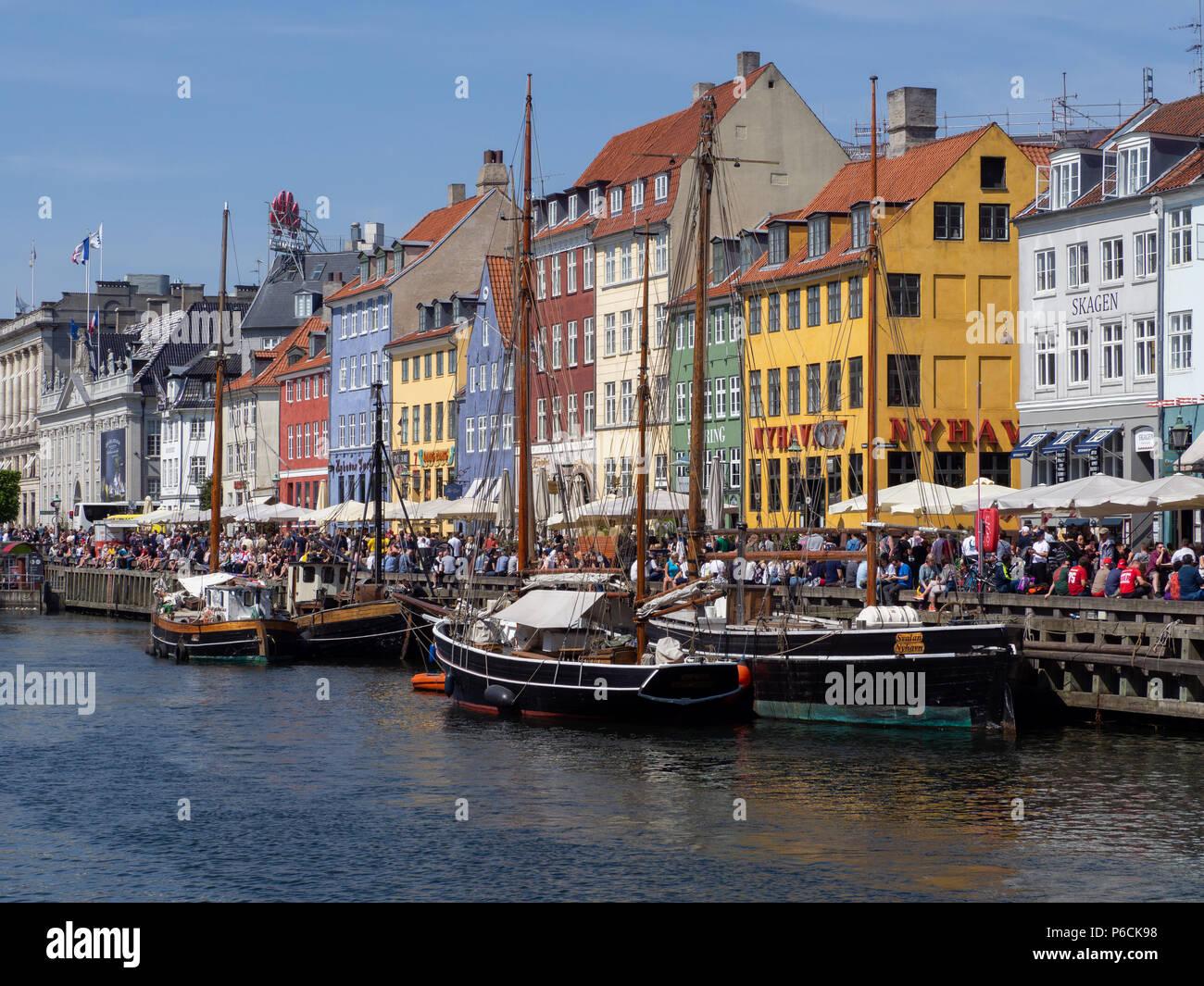 Copenhagen - Nyhavn - Stock Image