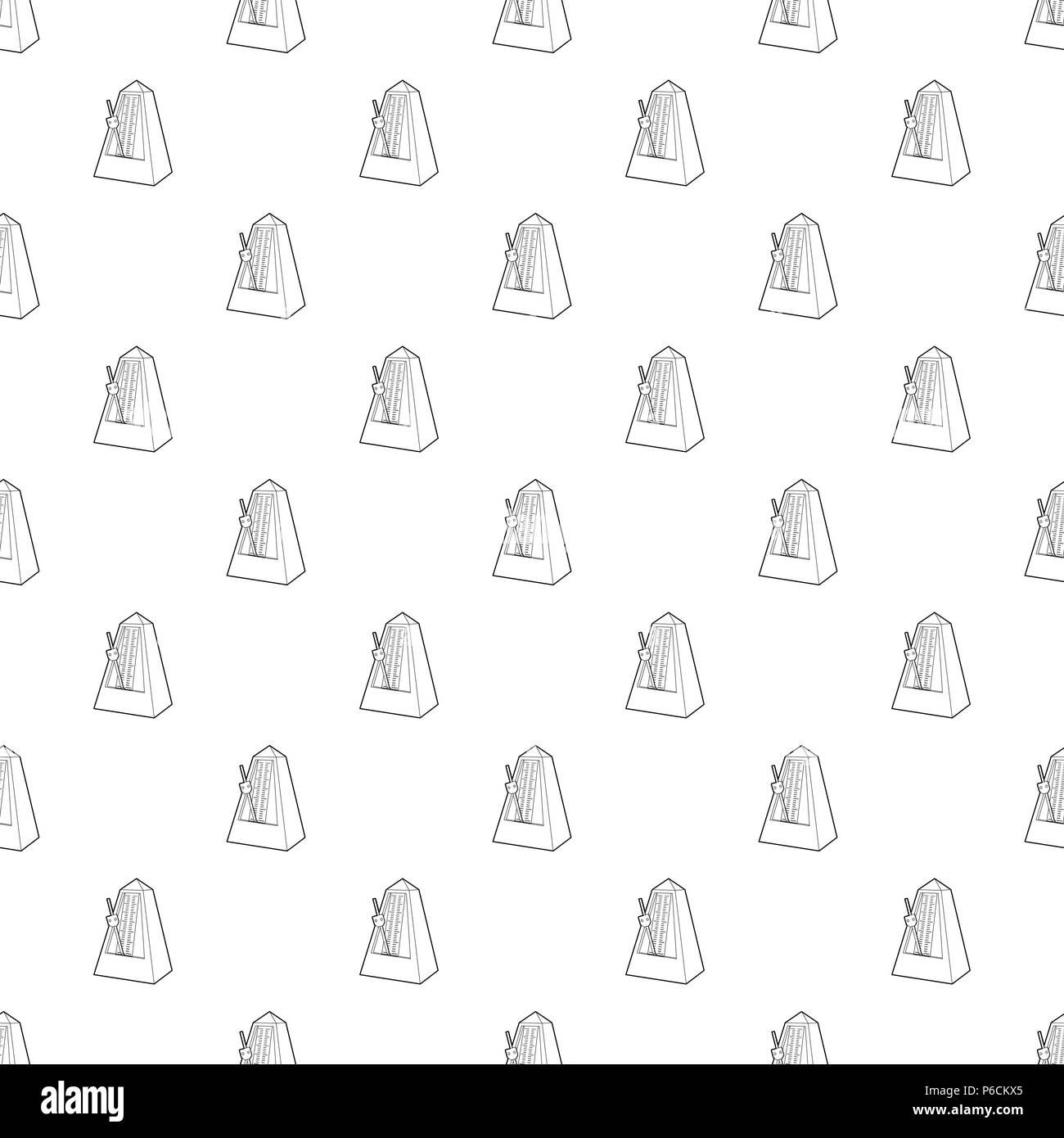 Metronome icon, outline style - Stock Image