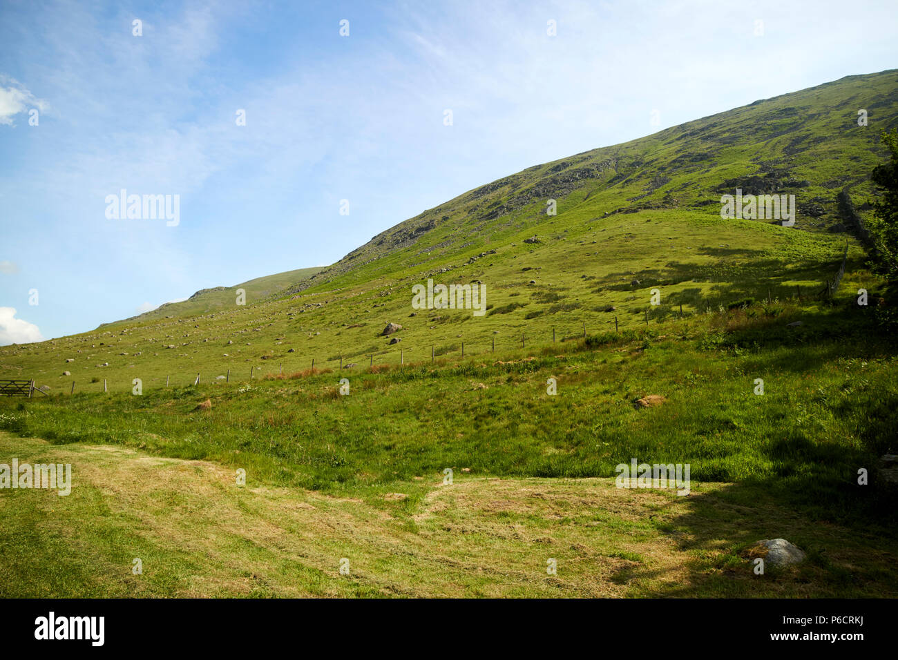seat sandal fell fields and hills dunmail raise in the lake district cumbria england uk - Stock Image