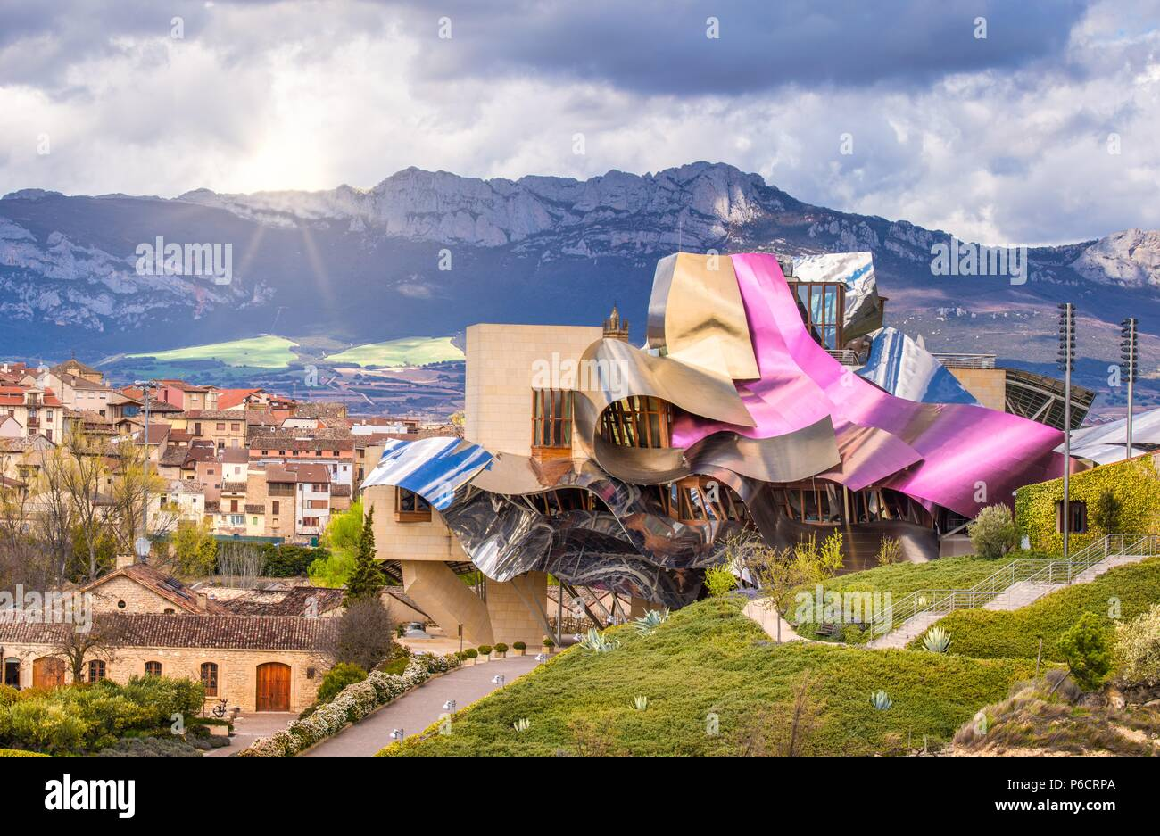 Architecture Frank Gehry Marques De Riscal Hotel Stock Photos