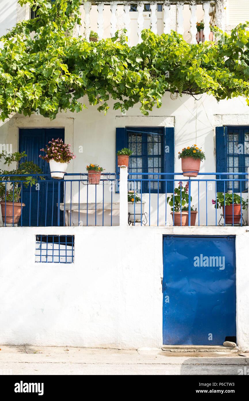 Village of Vuno, Albania, Balkans - Stock Image