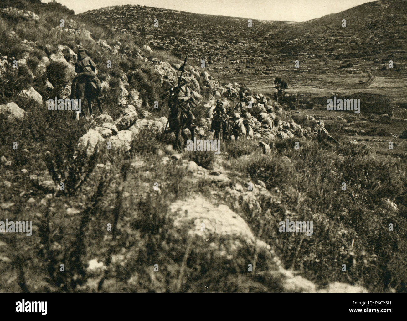 palestine, cavalry, German soldiers, ww1, wwi, world war one - Stock Image