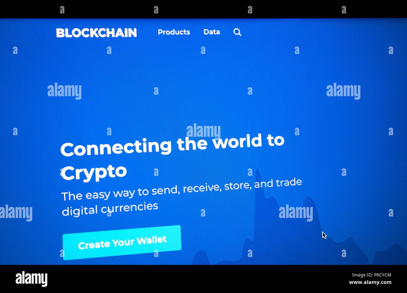 blockchain crypto digital currency - Stock Image
