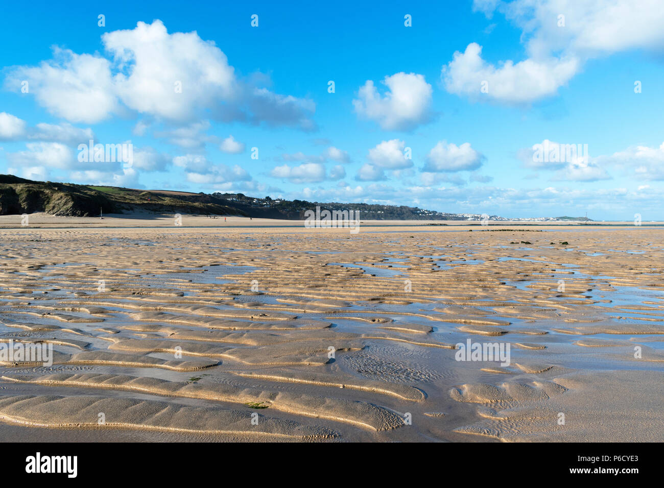 porth kidney sands, st.ives bay, lelant, hayle, cornwall, england, britain, uk. - Stock Image