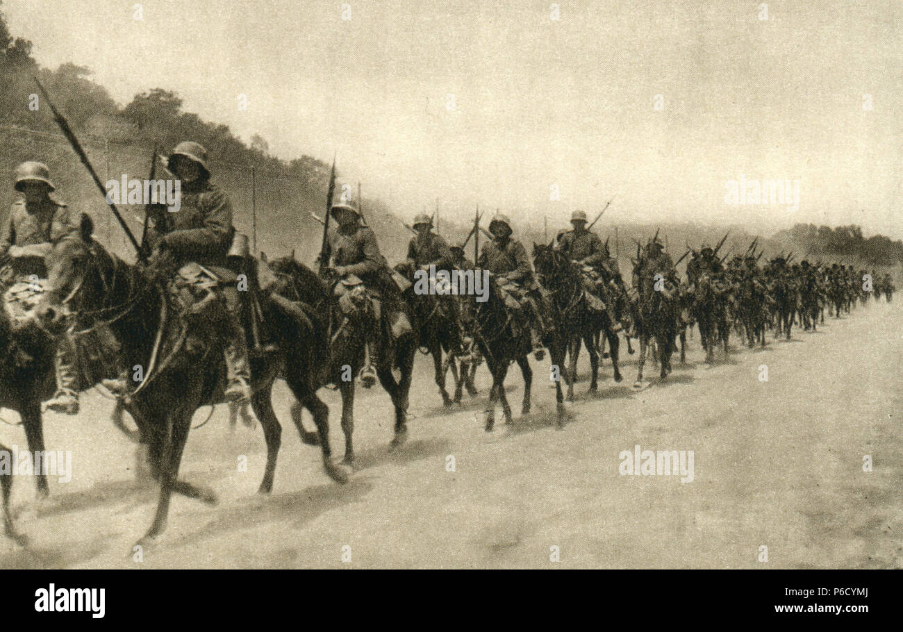 world war i, cavalry, ulanen, ww1, wwi, world war one - Stock Image