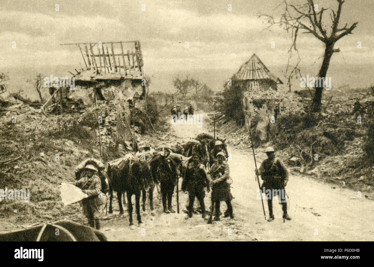 world war i, cavalry, British soldiers, ww1, wwi, world war one - Stock Image