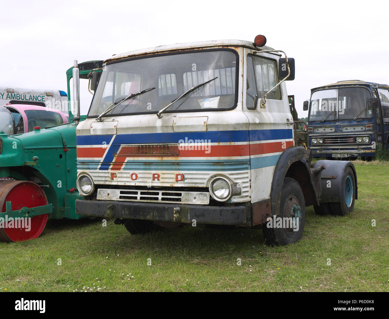 Ford lorry cab in need of tlc at Fir Park Wings and Wheels show - Stock Image
