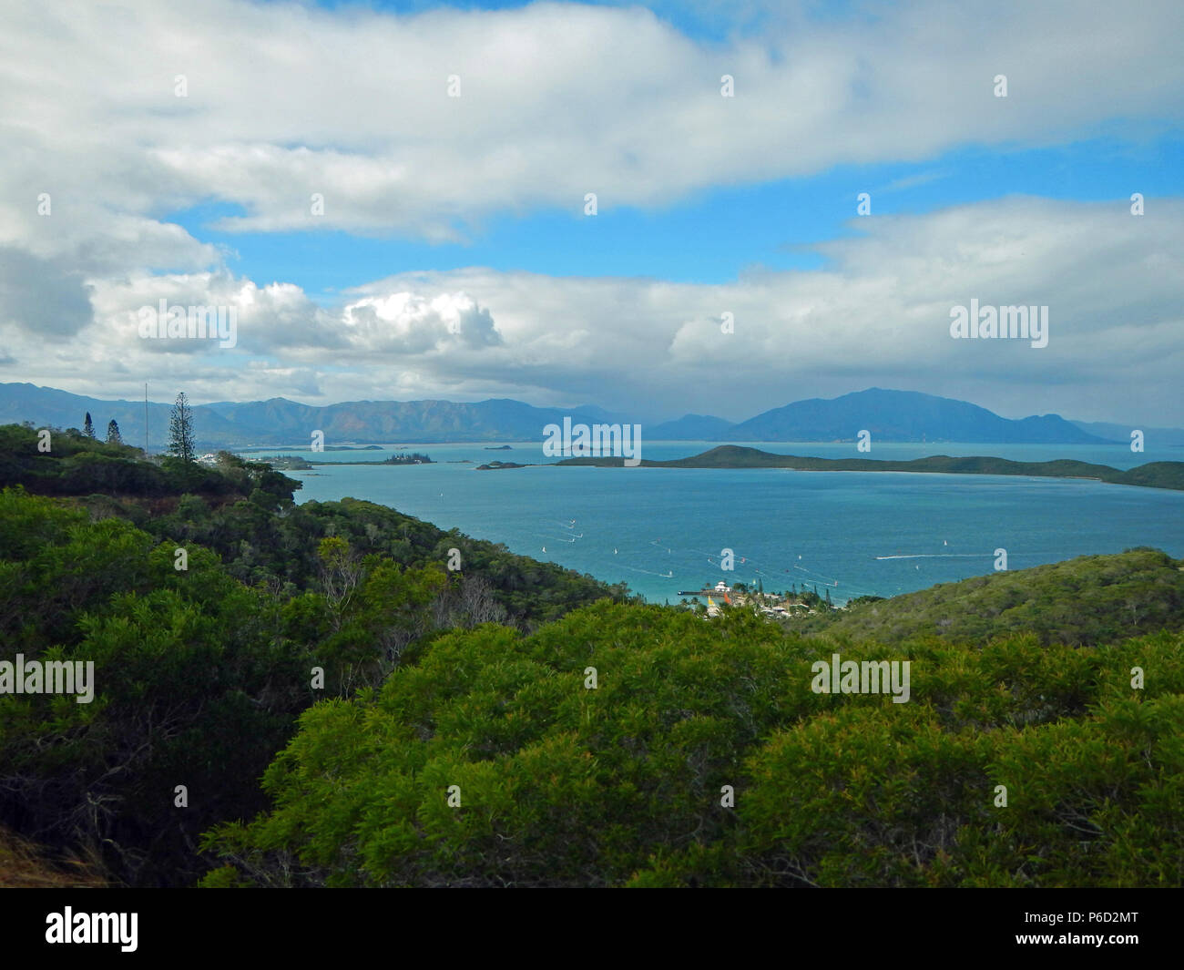 Aerial view from Noumea - Stock Image