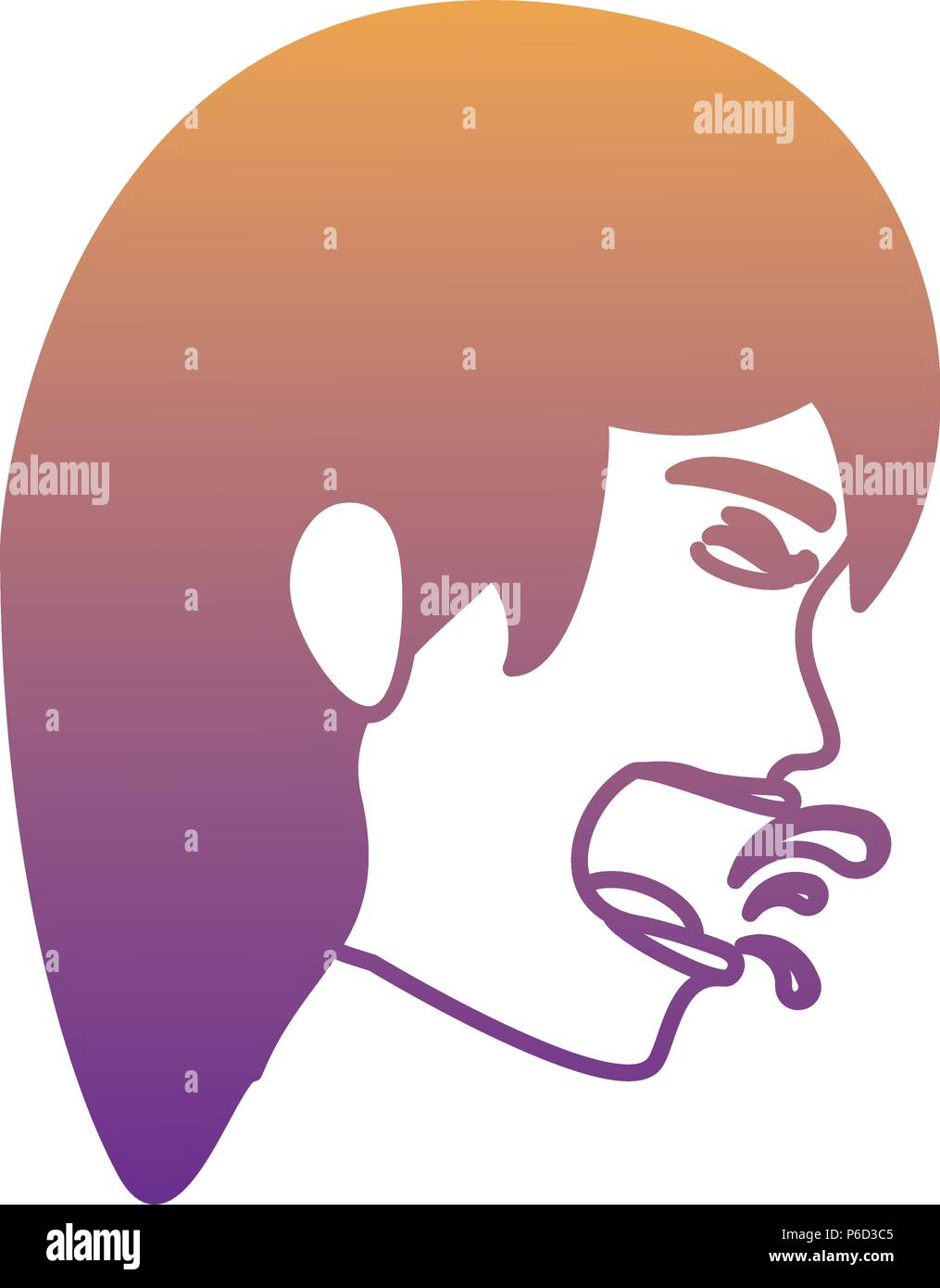 woman with tuberculosis icon over white background, vector illustration - Stock Image