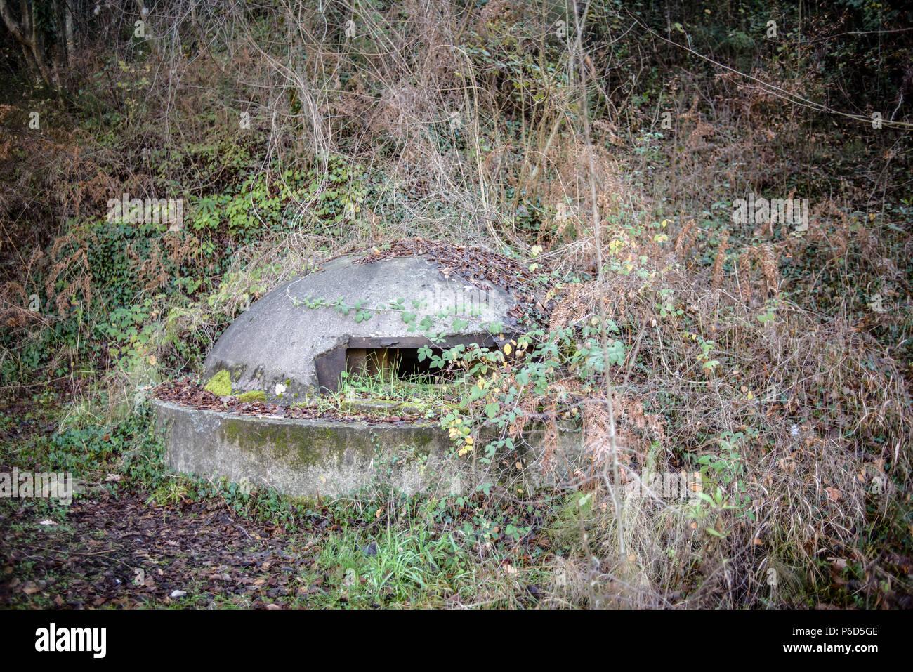 Concrete bunker, Tirana, Albania - Stock Image