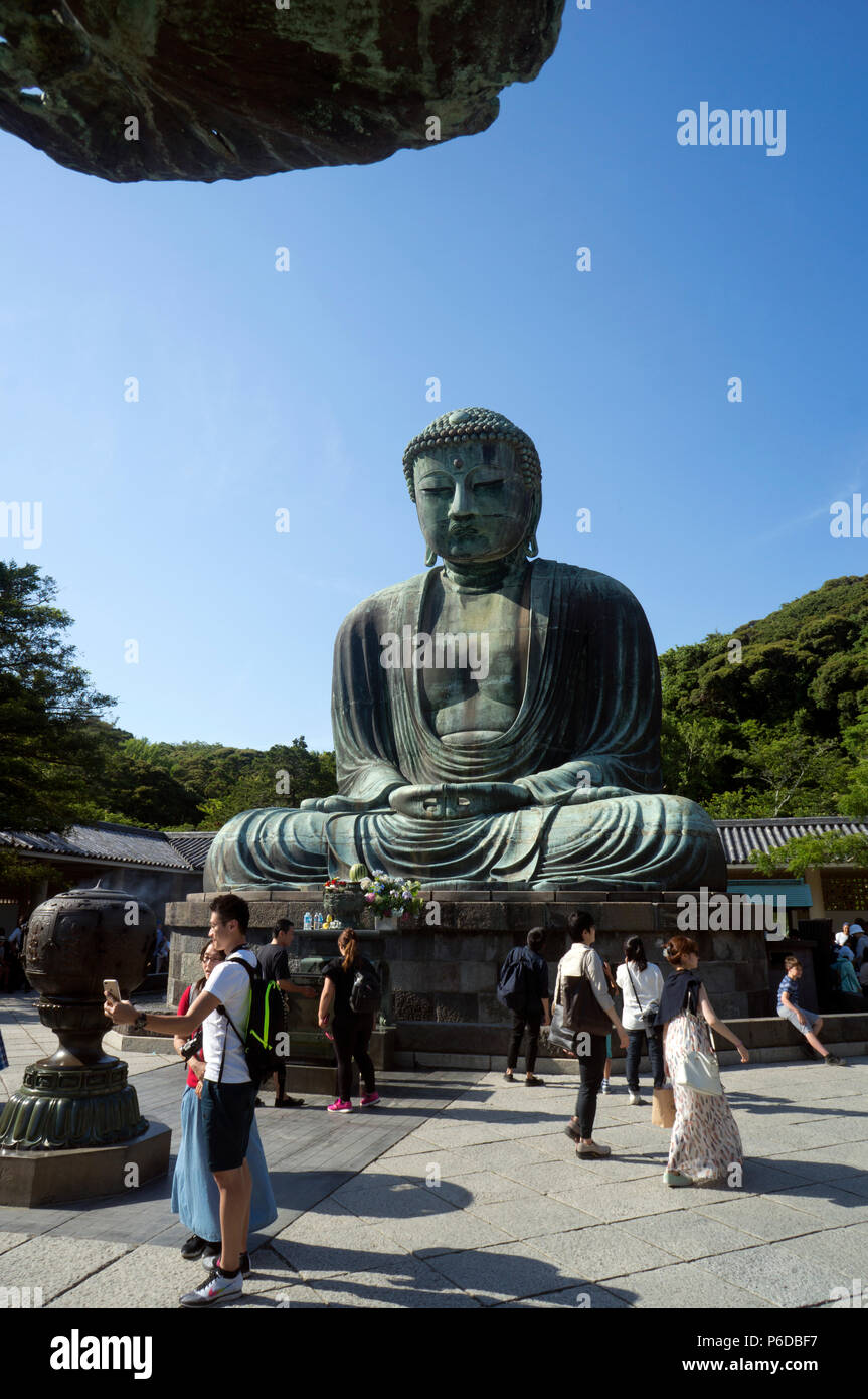 Kōtoku-in a Jōdo-shū Buddhist temple in the city of Kamakura in Kanagawa Prefecture, Japan - Stock Image