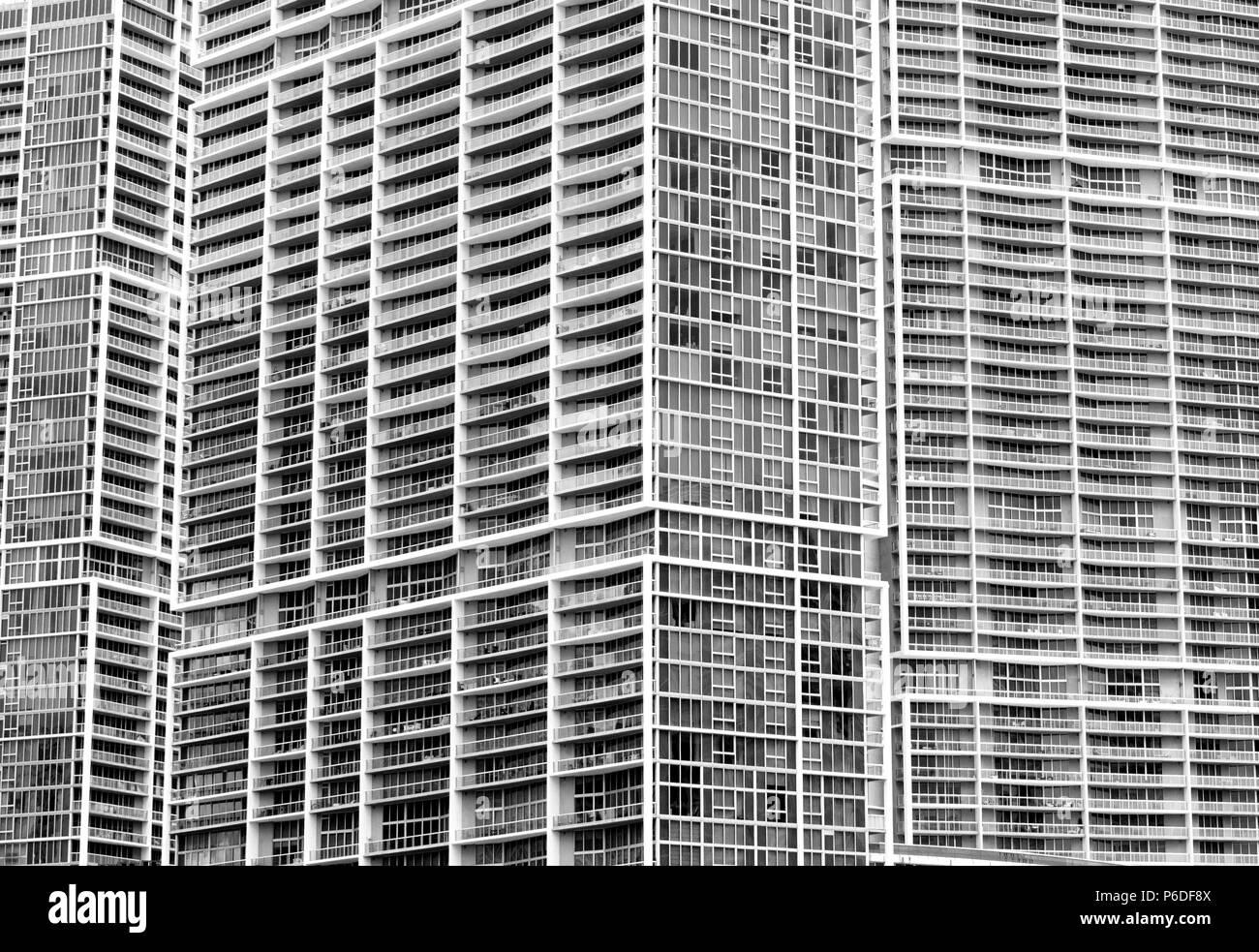 Living Flats, Hochhaus, modern living - Stock Image