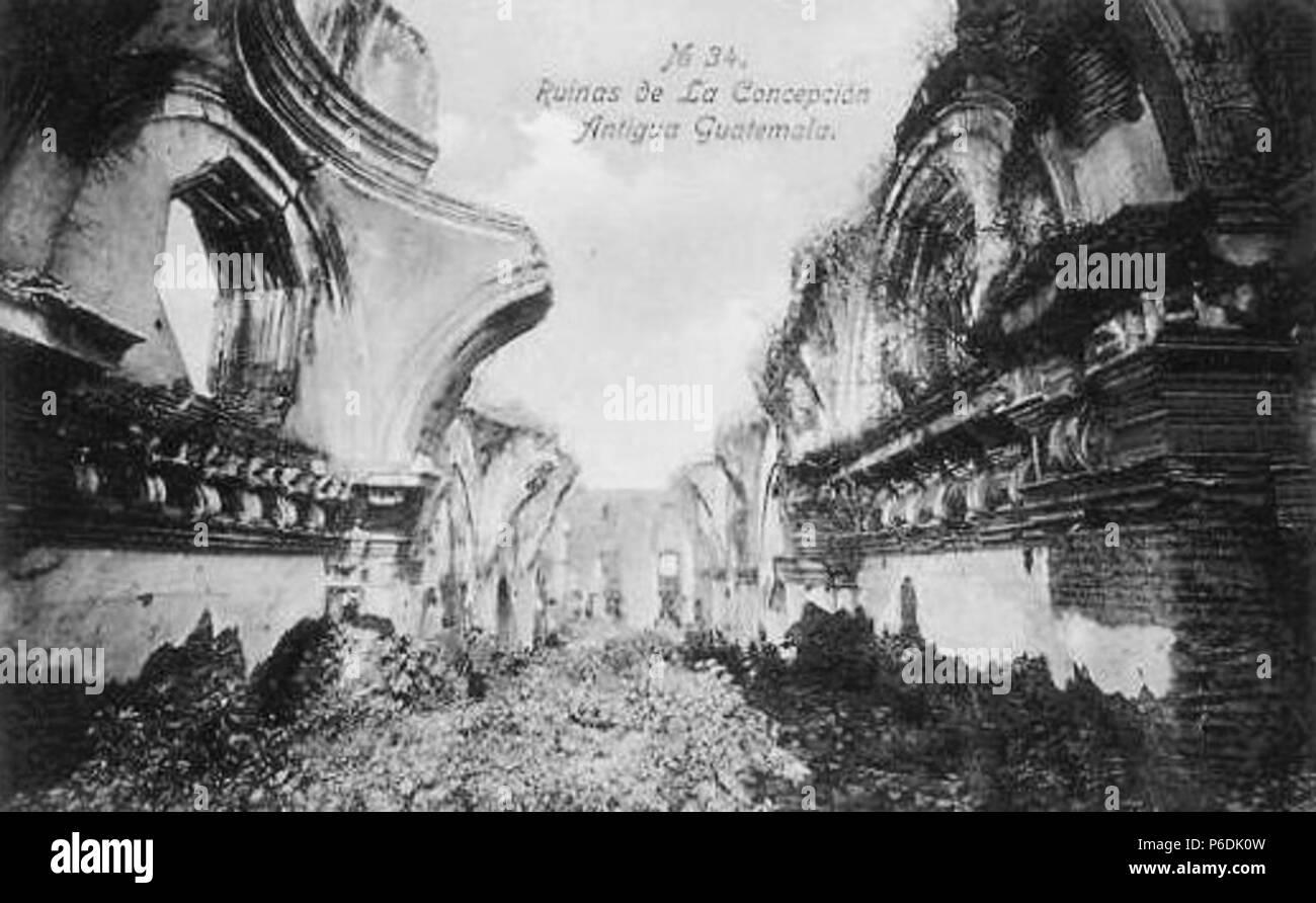 Español: Ruinas de la iglesia de La Recolección a principios del siglo XX. Colección de Ana Aguirre. 1910 60 LaRecoleccion1910 Stock Photo